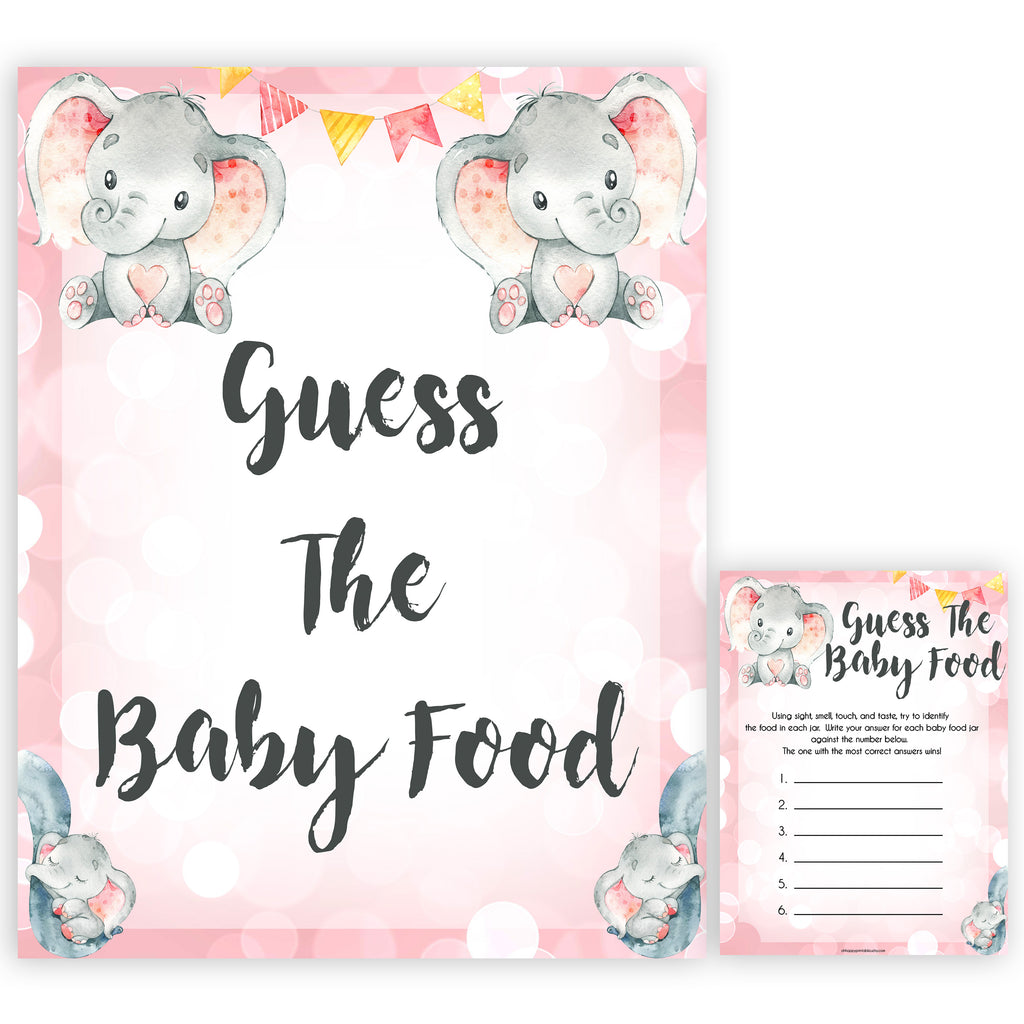 photograph regarding Baby Food Game Printable named Bet The Boy or girl Meals Activity - Purple Elephant