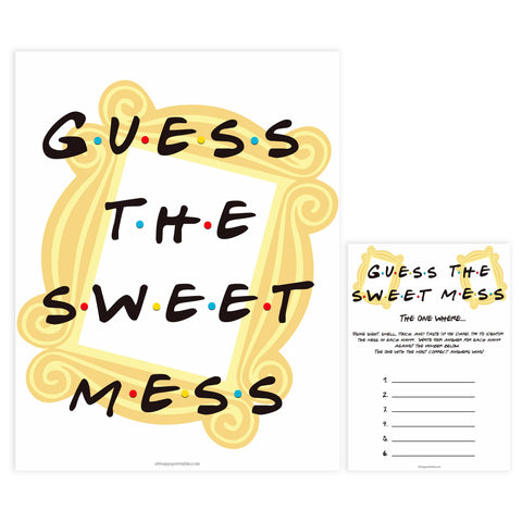 guess the sweet mess game, Printable baby shower games, friends fun baby games, baby shower games, fun baby shower ideas, top baby shower ideas, friends baby shower, friends baby shower ideas
