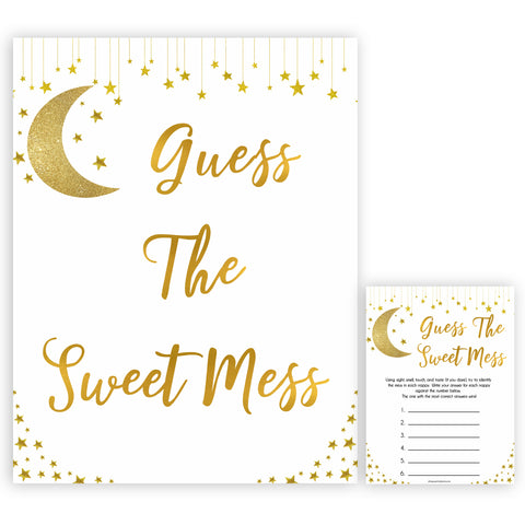 Twinkle Little Star Baby Shower Guess The Mess Game, Baby Shower Guess The Sweet Mess, Baby Shower Games, Guess The Mess, Baby Games
