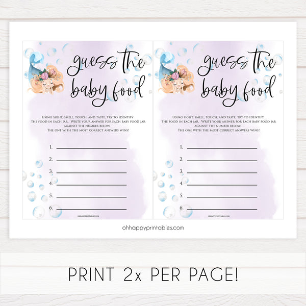 guess the baby food game, Printable baby shower games, little mermaid baby games, baby shower games, fun baby shower ideas, top baby shower ideas, little mermaid baby shower, baby shower games, pink hearts baby shower ideas