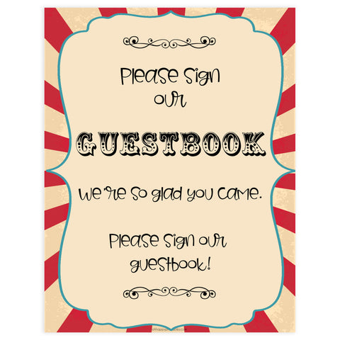 guestbook baby table sign, guestbook baby decor sign, Circus baby decor, printable baby table signs, printable baby decor, carnival table signs, fun baby signs, circus fun baby table signs