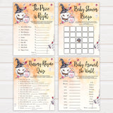Halloween pumpkin baby games, 7 baby shower games bundle baby games, printable baby games, best baby games, top baby games halloween baby shower, halloween baby ideas, best baby games