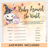 Halloween pumpkin baby games, baby around the world baby games, printable baby games, best baby games, top baby games halloween baby shower, halloween baby ideas, best baby games