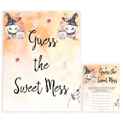 Halloween pumpkin baby games, guess the sweet mess baby games, printable baby games, best baby games, top baby games halloween baby shower, halloween baby ideas, best baby games