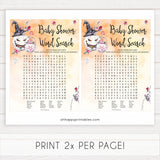 Halloween pumpkin baby games, word search baby games, printable baby games, best baby games, top baby games halloween baby shower, halloween baby ideas, best baby games