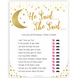 Twinkle Little Star He Said She Said Baby Shower Game, Who Said It, Gold Baby Shower Games, He Said She Said Game, Mommy or Daddy Game , fun baby games, popular baby shower games