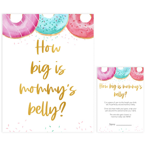 how big is mommys belly game, Printable baby shower games, donut baby games, baby shower games, fun baby shower ideas, top baby shower ideas, donut sprinkles baby shower, baby shower games, fun donut baby shower ideas