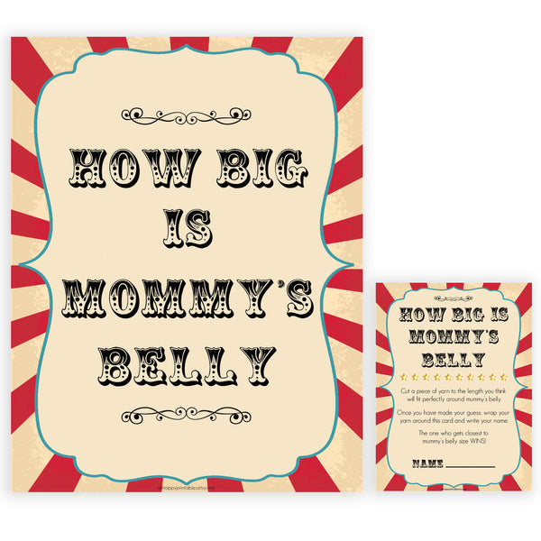 Circus how big is mommys belly baby shower games, circus baby games, carnival baby games, printable baby games, fun baby games, popular baby games, carnival baby shower, carnival theme