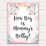 pink elephant baby games, how big is mommys belly baby shower games, printable baby shower games, baby shower games, fun baby games, popular baby games, pink baby games