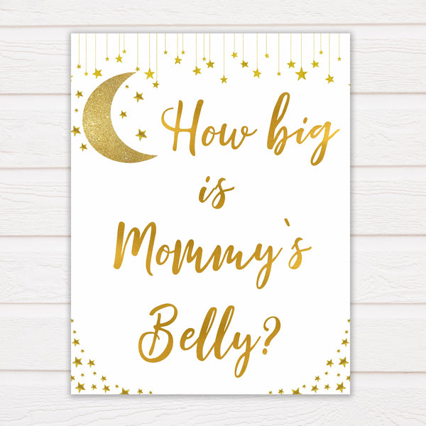 Twinkle Little Star How Big Is Mommy's Belly, Mommys Belly Game, Gold Baby Shower Games, Baby Games, Gold Guess Mommys Belly, Baby Games, fun baby games, popular baby games