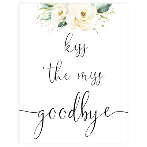 kiss the miss goodbye, Printable bridal shower games, floral bridal shower, floral bridal shower games, fun bridal shower games, bridal shower game ideas, floral bridal shower