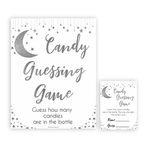 Silver little star, candy guessing game baby games, baby shower games, printable baby games, fun baby games, twinkle little star games, baby games, fun baby shower ideas, baby shower ideas