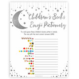 Silver little star, childrens book emoji pictionary baby games, baby shower games, printable baby games, fun baby games, twinkle little star games, baby games, fun baby shower ideas, baby shower ideas
