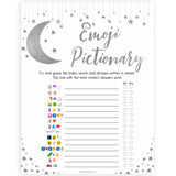 Silver little star, emoji pictionary baby games, baby shower games, printable baby games, fun baby games, twinkle little star games, baby games, fun baby shower ideas, baby shower ideas
