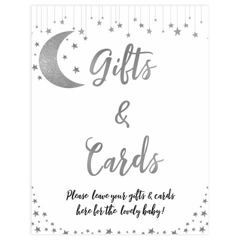 gifts and cards baby sign, Little star baby signs, printable baby signs, printable baby decor, twinkle baby shower, star baby decor, fun baby shower ideas, top baby shower themes