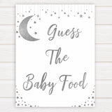 Silver little star, guess the baby food baby games, baby shower games, printable baby games, fun baby games, twinkle little star games, baby games, fun baby shower ideas, baby shower ideas