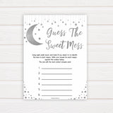 Silver little star, guess the sweet mess baby games, baby shower games, printable baby games, fun baby games, twinkle little star games, baby games, fun baby shower ideas, baby shower ideas