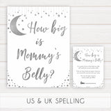 Silver little star, how big is mommys belly baby games, baby shower games, printable baby games, fun baby games, twinkle little star games, baby games, fun baby shower ideas, baby shower ideas
