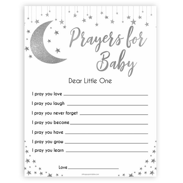 Silver little star, prayers for baby baby games, baby shower games, printable baby games, fun baby games, twinkle little star games, baby games, fun baby shower ideas, baby shower ideas