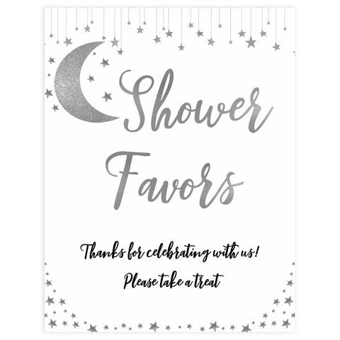 Shower Favors Sign, Little star baby signs, printable baby signs, printable baby decor, twinkle baby shower, star baby decor, fun baby shower ideas, top baby shower themes