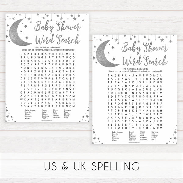 Silver twinkle little star baby word search game, baby word search game, printable baby games, fun baby games, little star baby games, popular baby games