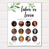 Labour or lovin Game botanical theme, labor or lovin baby shower games, baby shower games, funny baby shower games, sex face baby shower games, botanical baby shower, its a boy