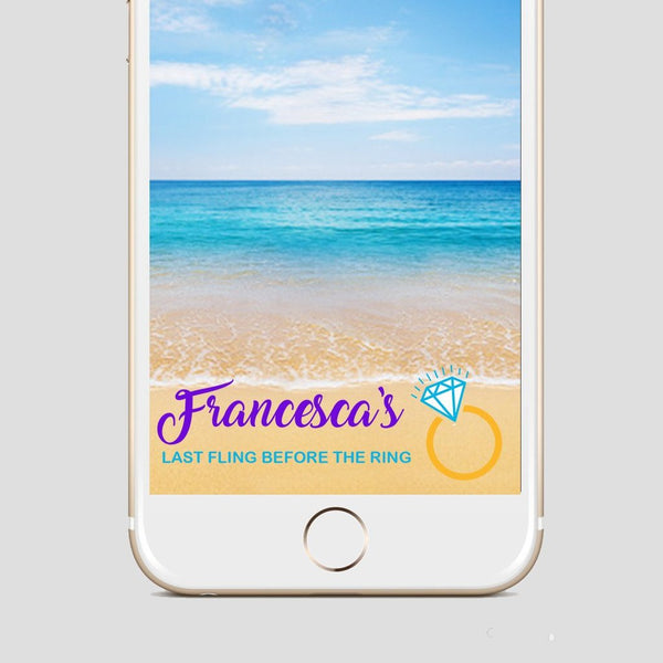 Last Fling Before The Ring Snapchat Filter Bride To Be Snapchat geofilter