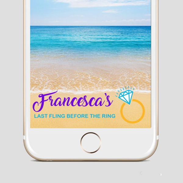 Last Fling Before The Ring Snapchat Filter Bride To Be Snapchat