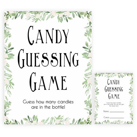 candy guessing game, baby shower games, printable baby shower games, fun baby shower games, popular baby shower games