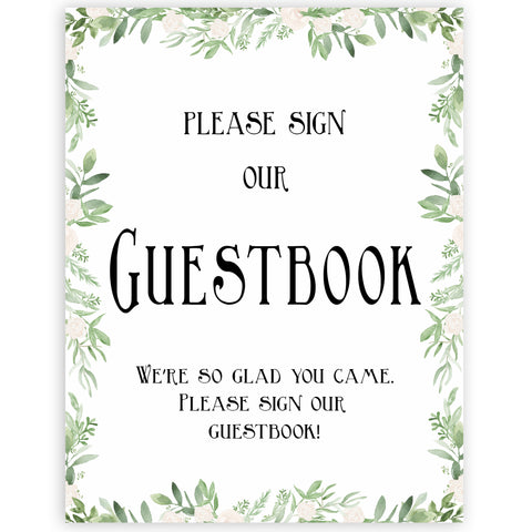 guestbook baby table sign, Printable baby table signs, baby shower table signs, botanical baby table signs, baby shower decor, fun baby decor, printable baby decor