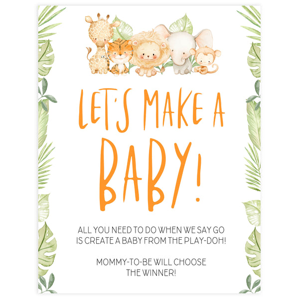 lets make a baby game, Printable baby shower games, safari animals baby games, baby shower games, fun baby shower ideas, top baby shower ideas, safari animals baby shower, baby shower games, fun baby shower ideas