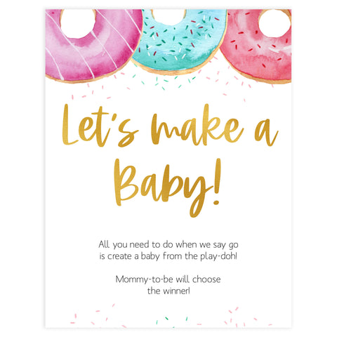 lets make a baby game, Printable baby shower games, donut baby games, baby shower games, fun baby shower ideas, top baby shower ideas, donut sprinkles baby shower, baby shower games, fun donut baby shower ideas