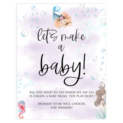 lets make a baby game, Printable baby shower games, little mermaid baby games, baby shower games, fun baby shower ideas, top baby shower ideas, little mermaid baby shower, baby shower games, pink hearts baby shower ideas