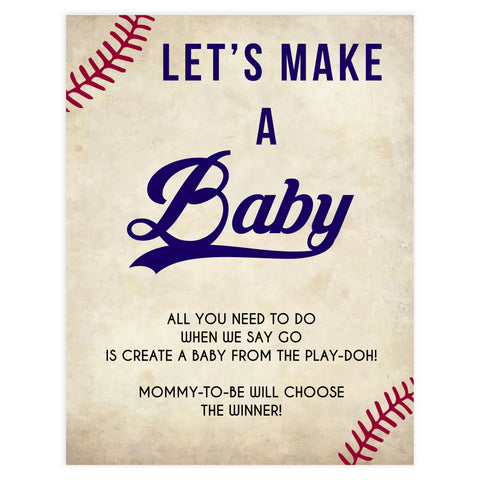 baseball baby shower, lets make a baby baby game, printable baby games, fun baby games, little slugger baby shower, top baby games, fun baby games