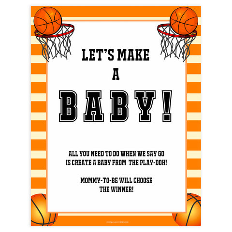 lets make a baby game, play-doh baby game, Printable baby shower games, basketball fun baby games, baby shower games, fun baby shower ideas, top baby shower ideas, basketball baby shower, basketball baby shower ideas