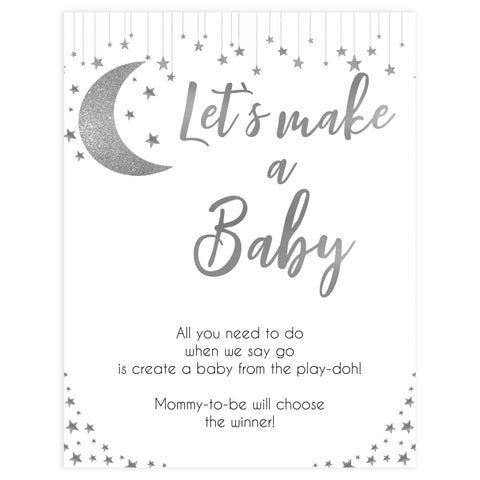 Lets make a baby game, Little star baby shower games, printable baby shower games, twinkle star baby shower, fun baby games, top baby shower ideas