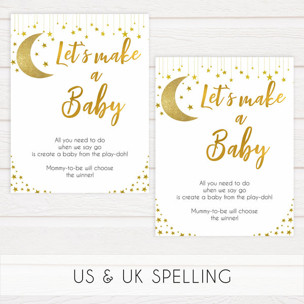 twinkle little star baby games, lets make a baby game, printable baby games, fun baby shower, little star baby shower, 10 baby games, fun baby games