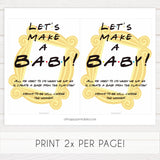 Lets make a baby game, play doh game, Printable baby shower games, friends fun baby games, baby shower games, fun baby shower ideas, top baby shower ideas, friends baby shower, friends baby shower ideas