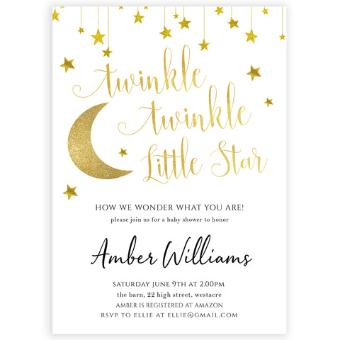 Twinkle Little Star Invitation Template