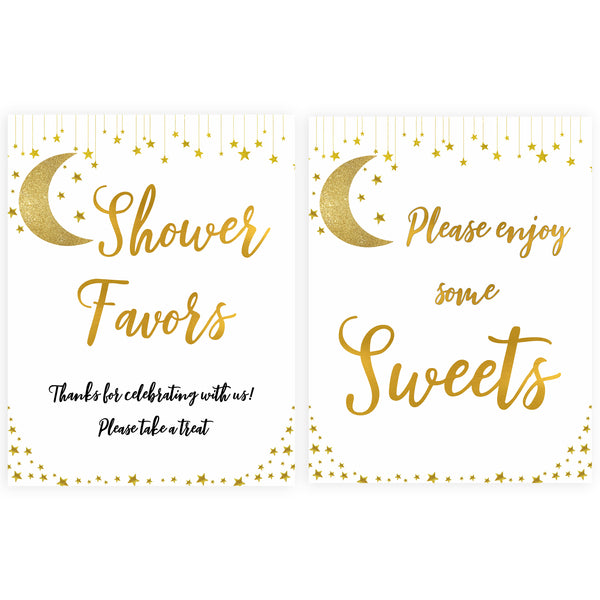 twinkle little star baby shower signs, 8 baby shower signs, printable baby shower signs, baby signs, little star baby signs