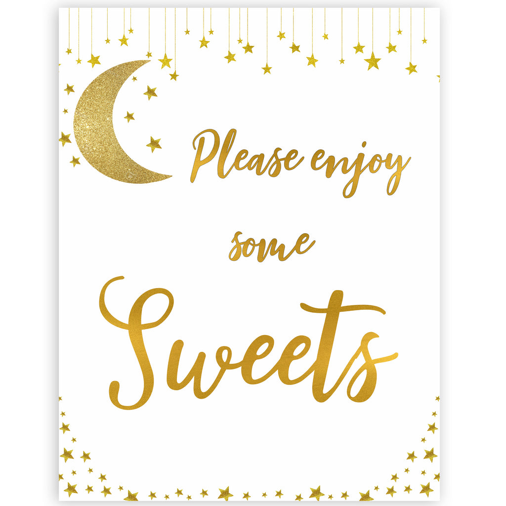 Sweets Sign Little Star Printable Baby Shower Signs