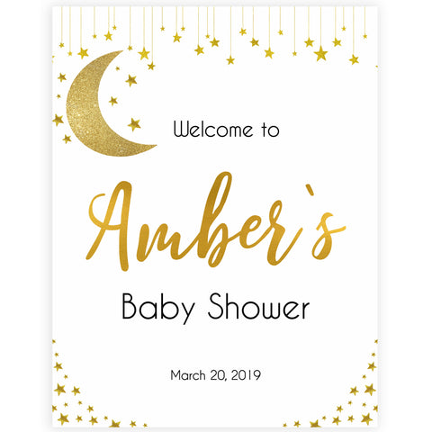 picture relating to Welcome Signs Template referred to as Boy or girl Shower Welcome Indications OhHappyPrintables