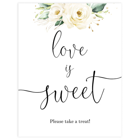 love is sweet printable sign, Printable bridal shower signs, floral bridal shower decor, floral bridal shower decor ideas, fun bridal shower decor, bridal shower game ideas, floral bridal shower ideas