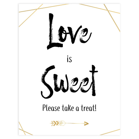 love is sweet bridal decor, printable baby shower decor, love is sweet sign, bride tribe decor