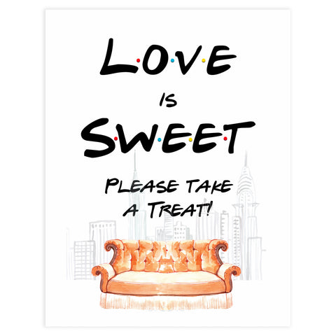 love is sweet table signs, love is sweet bridal decor, Printable bridal shower signs, friends bridal shower decor, friends bridal shower decor ideas, fun bridal shower decor, bridal shower game ideas, friends bridal shower ideas