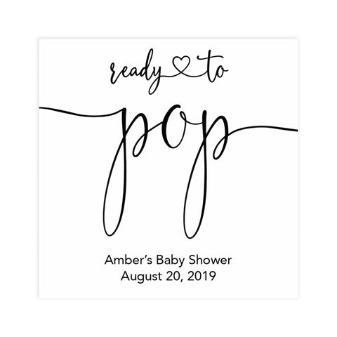 minimalist baby shower decor, ready to pop editable tags, printable baby tags, minimal baby shower