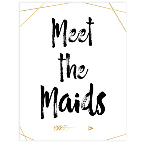meet the maids bridal sign, printable bridal decor, bride tribe decor, bridal shower signs
