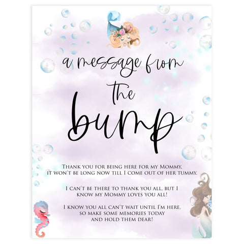 message from the bump game, Printable baby shower games, little mermaid baby games, baby shower games, fun baby shower ideas, top baby shower ideas, little mermaid baby shower, baby shower games, pink hearts baby shower ideas