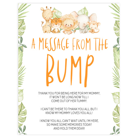 message from the bump game, Printable baby shower games, safari animals baby games, baby shower games, fun baby shower ideas, top baby shower ideas, safari animals baby shower, baby shower games, fun baby shower ideas