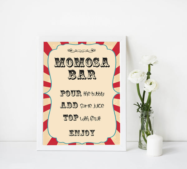 momsoa baby table sign, momosa baby decor sign,  Circus baby decor, printable baby table signs, printable baby decor, carnival table signs, fun baby signs, circus fun baby table signs